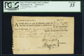 Colonial Notes:North Carolina, State of North Carolina Army Certificate January 1, 1782 -Warrentown, NC - Anderson 14 - PCGS Very Fine 35.. ...