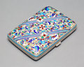 Decorative Arts, Continental, A Russian Silver and Cloisonné Enamel Cigarette Case, early 20thcentury. Marks: (bird's head with 2). 3-7/8 x 2-5/8 x 3/4 i...