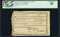 Colonial Notes:North Carolina, State of North Carolina Army Certificate January 1, 1782 - Halifax, NC - Anderson 12 - PCGS Extremely Fine 40. ...