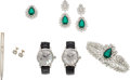 Estate Jewelry:Lots, Diamond, Mother-of-Pearl, Sterling Silver, Stainless Steel Jewelry. ... (Total: 7 Items)