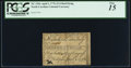 Colonial Notes:North Carolina, North Carolina April 2, 1776 $1/4 Bird Flying PCGS Fine 15.. ...