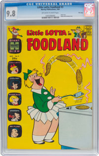Little Lotta Foodland #3 File Copy (Harvey, 1964) CGC NM/MT 9.8 Off-white to white pages