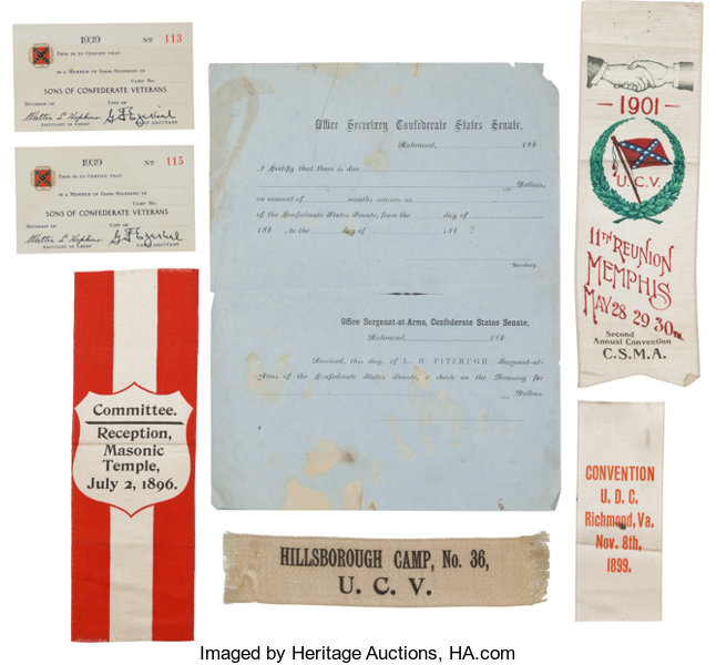 CSA Group of Cards, Ribbons and Blank Form