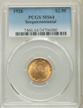 Commemorative Gold, 1926 $2 1/2 Sesquicentennial Quarter Eagle MS64 PCGS. PCGSPopulation: (4505/2249). NGC Census: (2619/1154). CDN: $500 Whsl...