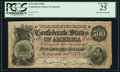 Confederate Notes:1864 Issues, T64 $500 1864 with Poem Inscribed on Back.. ...