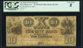 Obsoletes By State:Louisiana, New Orleans, LA- City Bank $10 Mar. 30, 1844 G26c. ...