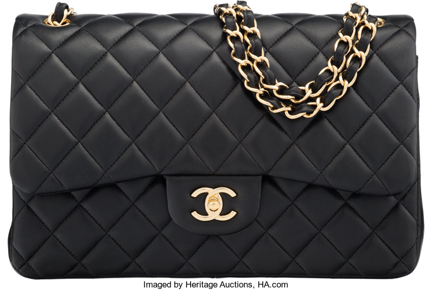... Luxury Accessories Bags, Chanel Black Quilted Lambskin Leather Jumbo Classic  Double Flap Bagwith Gold ... a6aeb77557