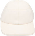 Luxury Accessories:Accessories, Hermes White Cotton Baseball Cap. Condition: 1. Size: 57. ...