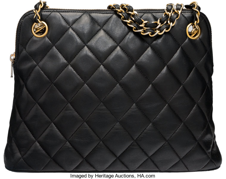Chanel Black Quilted Lambskin Leather Shoulder Bag . Condition  4 ... 4a9fc03ba711c