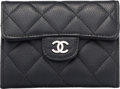 """Luxury Accessories:Accessories, Chanel Black Quilted Caviar Leather Mini Coin Purse. Condition: 2. 4.5"""" Width x 3.5"""" Height x 1"""" Depth. ..."""