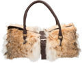 "Luxury Accessories:Bags, Fendi Lynx Fur and Brown Leather Shoulder Bag. Condition: 3.17"" Length x 8"" Height x 6"" Depth. ..."