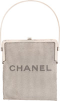 """Luxury Accessories:Bags, Chanel Silver Chain-Mail Mesh Frame Bag. Condition: 4. 7"""" Width x 8"""" Height x 0.25"""" Depth. ..."""