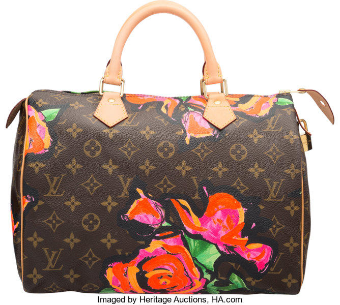 13c1540a73c9 Louis Vuitton Brown Monogram Canvas Stephen Sprouse Roses Speedy ...