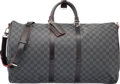 "Luxury Accessories:Travel/Trunks, Louis Vuitton Graphite Damier Stripe Keepall 55 Bandouliere Bag. Condition: 2. 21"" Width x 12"" Height x 10"" Depth. ..."