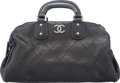 "Luxury Accessories:Bags, Chanel Black Quilted Leather Bowler Bag. Condition: 4. 15"" Widthx 9"" Height x 6.5"" Depth. ..."