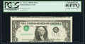 Error Notes:Inverted Third Printings, Fr. 1913-G $1 1985 Federal Reserve Note. PCGS Extremely Fine40PPQ.. ...