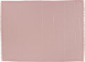 """Luxury Accessories:Accessories, Hermes Light Pink Plaid Jacquard H Link Shawl. Condition: 1. 58"""" Width x 40"""" Length. ..."""
