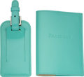 Luxury Accessories:Accessories, Tiffany & Co. Set of Two: Passport Cover and Luggage Tag. Condition 2. See extended report for sizes. ...
