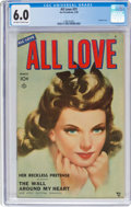 Golden Age (1938-1955):Romance, All Love #31 (Ace, 1950) CGC FN 6.0 Off-white to white pages....