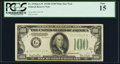 Small Size:Federal Reserve Notes, Fr. 2156-G* $100 1934D Mule Federal Reserve Note. PCGS Fine 15.. ...
