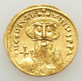 Ancients:Byzantine, Ancients: Constans II Pogonatus (AD 641-668). AV solidus (20mm, 4.41 gm, 5h). MS, brushed....
