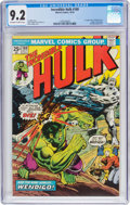 Bronze Age (1970-1979):Superhero, The Incredible Hulk #180 (Marvel, 1974) CGC NM- 9.2 Off-white towhite pages....