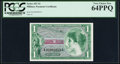 Military Payment Certificates:Series 651, Series 651 $1 PCGS Very Choice New 64PPQ.. ...