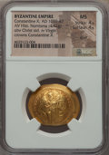 Ancients:Byzantine, Ancients: Constantine X Ducas (AD 1059-1067). AV histamenon nomisma(28mm, 4.42 gm, 6h). NGC MS 4/5 - 4/5, scuff....
