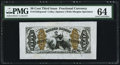 Fractional Currency:Third Issue, Fr. 1343SP 50¢ Third Issue Justice Wide Margin Face PMG Choice Uncirculated 64.. ...