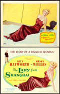 "Movie Posters:Film Noir, The Lady from Shanghai (Columbia, 1947). Title Lobby Card &Lobby Card (11"" X 14"").. ... (Total: 2 Items)"