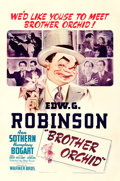 "Movie Posters:Crime, Brother Orchid (Warner Brothers, 1940). One Sheet (27"" X 41"").. ..."