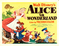 "Movie Posters:Animation, Alice in Wonderland (RKO, 1951). Half Sheet (22"" X 28"") Style B....."