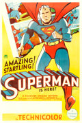 "Movie Posters:Animation, Superman Cartoon (Paramount, 1941). Stock One Sheet (27"" X 41"")....."