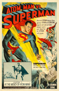 "Movie Posters:Serial, Atom Man vs. Superman (Columbia, 1950). Autographed One Sheet (27""X 41"") Chapter 7 --""At the Mercy of Atom Man!"". ..."
