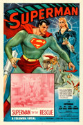 "Movie Posters:Serial, Superman (Columbia, 1948). One Sheet (27"" X 41"") Chapter 8 -- ""Superman to the Rescue."". ..."