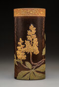 Decorative Arts, French:Other , A Mont Joye Overlaid and Etched Glass Vase, Paris,...
