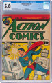 Action Comics #36 (DC, 1941) CGC VG/FN 5.0 Off-white to white pages