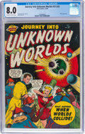 Golden Age (1938-1955):Science Fiction, Journey Into Unknown Worlds #37 (#2) (Atlas, 1950) CGC VF 8.0 Off-white to white pages....