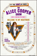 """Movie Posters:Rock and Roll, Alice Cooper: Welcome to My Nightmare (Key Pictures, 1975). Folded, Very Fine-. One Sheet (27"""" X 41""""). Rock and Roll.. ..."""