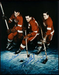 Autographs:Photos, Detroit Red Wings Greats Multi-Signed Photograph - Howe, Abel,& Lindsay....