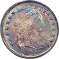 Early Half Dollars, 1806 50C Pointed 6, Stem, O-118a, T-24, R.3, MS62 PCGS Secure....