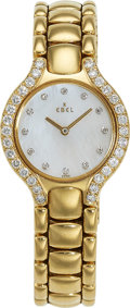 Estate Jewelry:Watches, Ebel Lady's Diamond, Gold Beluga Watch. ...