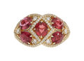 Estate Jewelry:Rings, Ruby, Diamond, Gold Ring, Kat Florence. ...