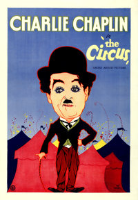 """The Circus (United Artists, 1928). One Sheet (28.5"""" X 41.25"""") Hap Hadley Artwork & Locally Produced On..."""
