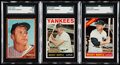 Baseball Cards:Lots, 1962, 1964 & 1966 Topps Mickey Mantle SGC Graded Trio (3). ...(Total: 3 items)