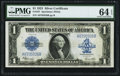 Large Size:Silver Certificates, Fr. 237 $1 1923 Silver Certificate PMG Choice Uncirculated 64 EPQ.....