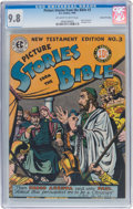 Golden Age (1938-1955):Religious, Picture Stories from the Bible NT 3 Gaines File Pedigree 10/12 (EC, 1946) CGC NM/MT 9.8 Off-white to white pages....