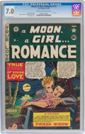 Golden Age (1938-1955):Romance, A Moon, A Girl...Romance #12 (EC, 1950) CGC FN/VF 7.0 Cream tooff-white pages....