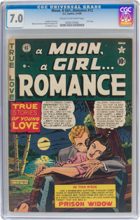A Moon, A Girl...Romance #12 (EC, 1950) CGC FN/VF 7.0 Cream to off-white pages