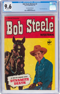 Bob Steele Western #2 Mile High Pedigree (Fawcett Publications, 1951) CGC NM+ 9.6 White pages